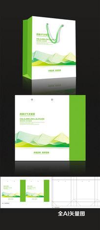 绿色企业手提袋