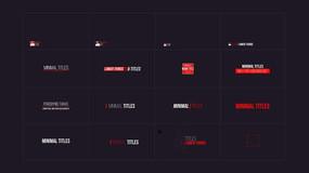 多款简洁文字动画AE模板