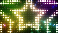 绚丽动感五角星矩阵灯舞台背景视频素材