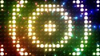 绚丽动感圆形矩阵灯舞台背景视频素材