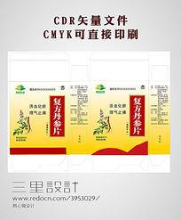 药盒包装设计CDR模板