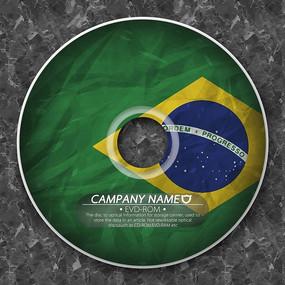巴西国旗光盘封套
