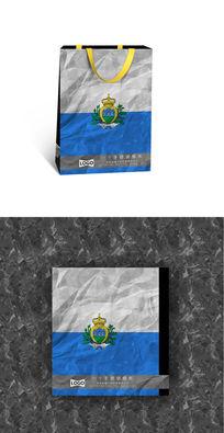 圣马力诺国旗纸袋设计图