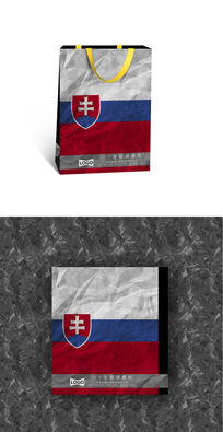 斯洛伐克国旗纸袋设计图
