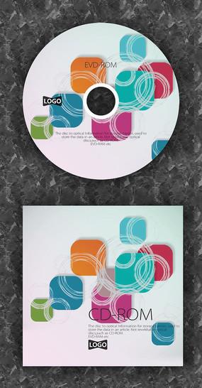 彩色方块时尚演唱会光盘封套