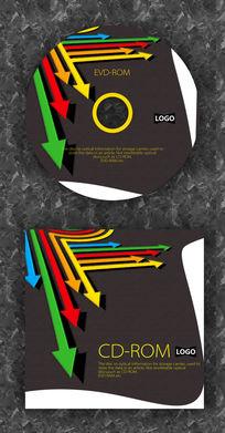 彩色箭头时尚CD封面设计