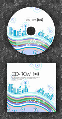城市房地产宣传CD封面设计