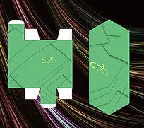 单色几何包装盒模板