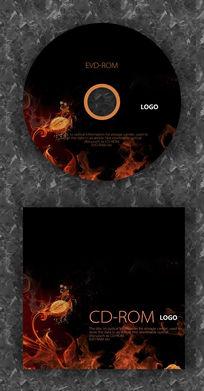 火焰酷炫特效CD封面设计