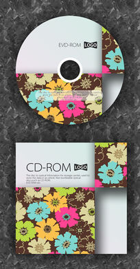 时尚碎花可爱CD封面设计