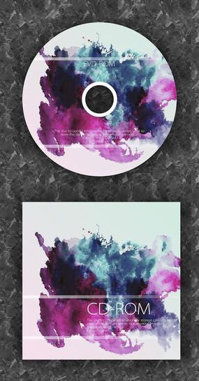水墨风色彩个性光盘封套