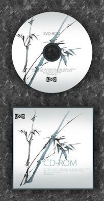 中国风水墨竹子CD设计