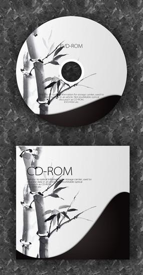 中国风竹子文化光盘封套