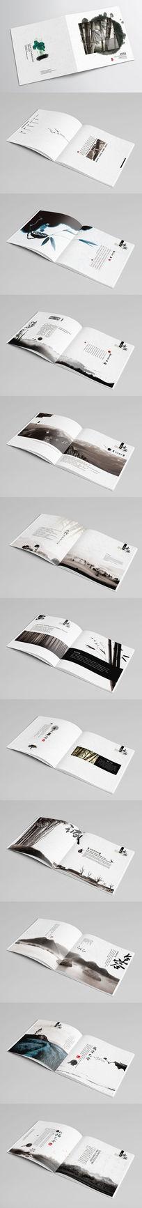 公司大气中国风古典水墨画册版式设计