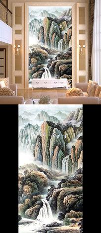 国画山水画水墨画巨幅客厅画玄关