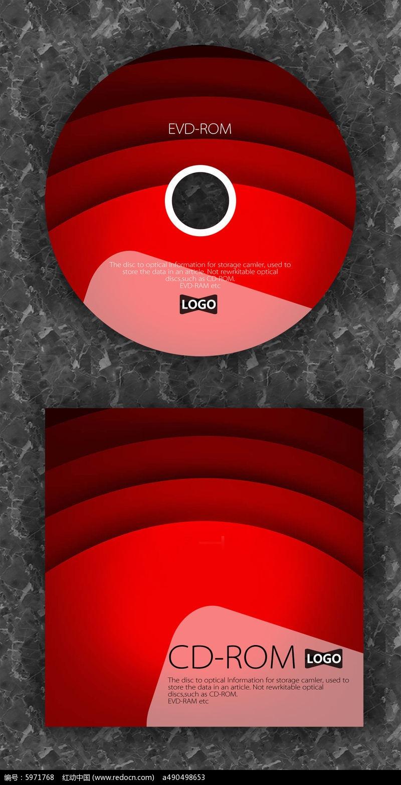 红色渐变流行音乐光盘图片