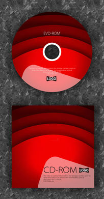 红色渐变流行音乐光盘