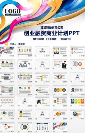 企业规划融资创业计划书动态PPT模板