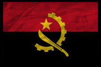 安哥拉国旗复古无边框装饰画