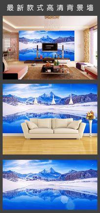 现代简约唯美海景电视背景墙