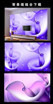 马蹄莲花朵电视背景墙图片设计下载