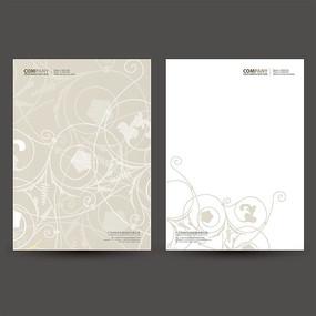 欧式公司信纸设计