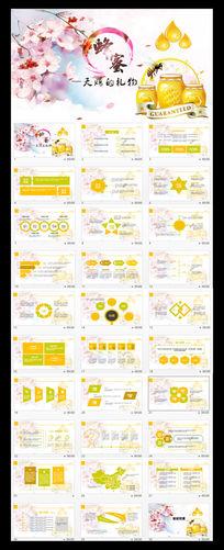 蜂蜜营养养生保健食品健康讲座PPT模板
