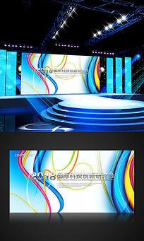 蓝色数码科技会议展板
