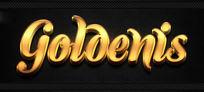 金色磨砂金属立体字