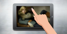 flash片頭仿ipad手指滑動輪播動畫