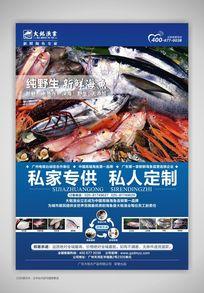 海产品渔业公司海报设计