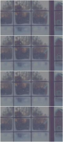 雪中窗外景色背景视频