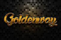 智能导入黄金磨砂金属立体字