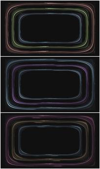 彩色线框变色背景视频素材
