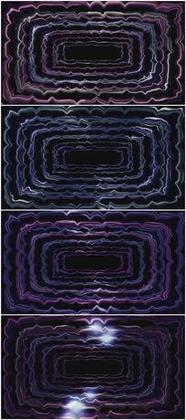 紫色线框闪动背景视频素材
