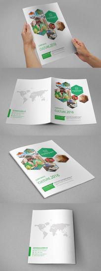 绿色环保简约画册封面设计