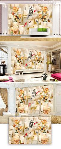 玉雕背景墙图片