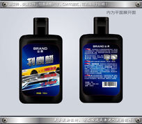 汽车划痕蜡包装瓶贴不干胶设计