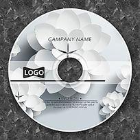 白色层次花朵时尚CD设计
