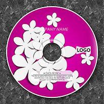 白色小花时尚CD设计