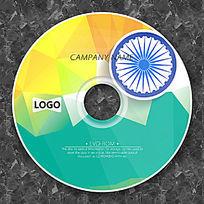炫彩钻石纹时尚CD光盘模板