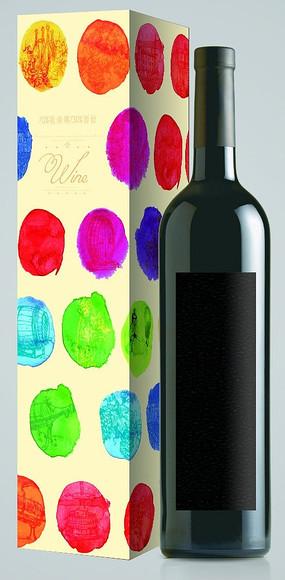 創意彩色紅酒包裝