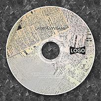 复古报纸背景高档CD光盘