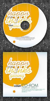感恩节橙色圆点cd封面设计