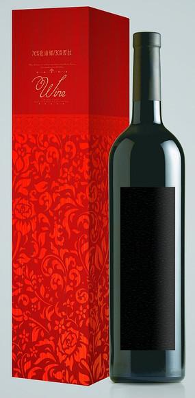 紅玫瑰紅酒包裝