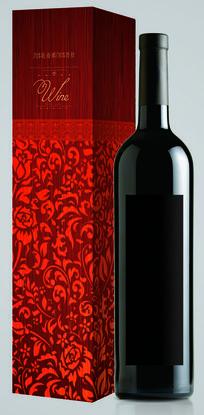 红玫瑰红酒包装