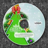 卡通绿色圣诞树时尚CD光盘