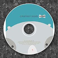 卡通棕熊可爱cd封面设计
