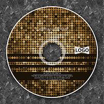 亮金色马赛克时尚CD设计