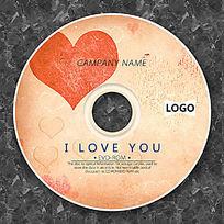 情人节橙色心形时尚CD设计
